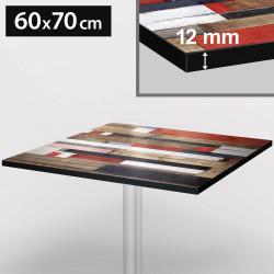 Bistro Terrassen Tischplatte | 60x70cm | Vintage Bund | 100% HPL | Compact Werzalit Gastro Restaurant Garten Outdoor Aussen Wetterfest Tisch Gastronomie Stehtisch Möbel