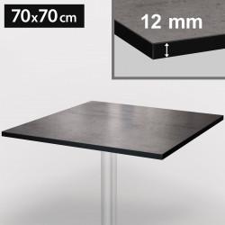 Bistro Terrassen Tischplatte   70x70cm   Beton   100% HPL   Compact Werzalit Garten Outdoor Aussen Gastro Restaurant Wetterfest Tisch Gastronomie Stehtisch Möbel