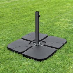 ELA Schirmgewicht für Sonnenschirmständer | 1x1m | 4er SET | Schwarz | Befüllbar 60kg-80kg | Plattenschirmständer Sonnen Schirm Ständer Fuß Ampel Ampelschirm Sonnenschirmfuß