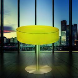 (Coco) Lounge Bord | LED RGB | Ø60xH45cm | Batteri | Udendørs Belyst Bar Loungebord Sofabord Lysmøbler Cocktailbord Sidebord Havebord Bistrobord Lampeobjekt Lysobjekt