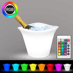 TROPIC Sektkühler | 5x0,75l | LED RGB | Akku | Flaschenkühler Eiswürfelbehälter Eiskübel Eiseimer Eisbehälter Weinkühler Champagnerkühler Eisbox Champagnerschale