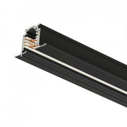 Indbygnings - Strømskinne 1000mm | 110V - 415V | Sort | 3-faset | Højvolt  | Fløjskinne . 3-faset Skinne . Indbygningsskinne . Indbygningsstrømskinne . 3-faset Strømskinne . Højvoltsskinne . Højvolt Strømskinne | Skinnesystem . Strømskinne Spotlights . St