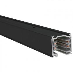 Påbygnings - Strømskinne 1000mm | 110V - 415V | Sort | 3-faset | Højvolt  | 3-faset Skinne . Højvoltsskinne . Påbygningsskinne . Påbygningsstrømskinne . 3-faset Strømskinne . Højvolt Strømskinne | Skinnesystem . Strømskinne Spotlights . Strømskinnespotlig