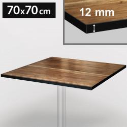 Bistro bordsskiva | 70 x 70 cm | Ek och svart | Kompakt | Compact träskiva Gastro restaurang bord gastronomi ståbord möbel