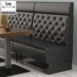 (NEW) Denver Gastro Bank   B100xH128cm   Schwarz   Chesterfield    Bistro Sitzbank Lounge Polster Restaurant