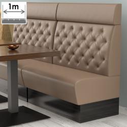 (NEW) Denver Gastro Bank | B100xH128cm | Taupe | Chesterfield  | Bistro Sitzbank Lounge Polster Restaurant