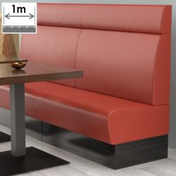 (NEW) Denver Gastro Bank | B100xH128cm | Rot | Glatt  | Bistro Sitzbank Lounge Polster Restaurant