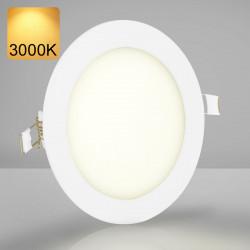 EMPIRE | Einbau LED Panel | Ø146mm | 9W | 3000K | Warm Weiß | Rund Spot Strahler Leuchte Lampe