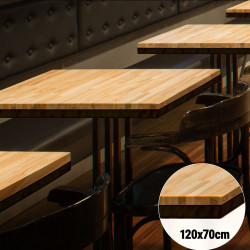Bistro Tischplatte   120x70cm   Massiv Eiche    Voll Holz Tisch Platte Gastro Restaurant Stehtisch