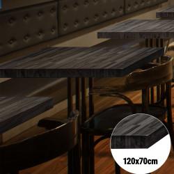 Bistro Tischplatte   120x70cm   Schwarz   Massiv Eiche    Voll Holz Tisch Platte Gastro Restaurant Stehtisch