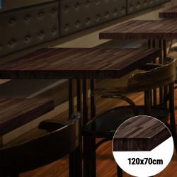 Bistro Tischplatte   120x70cm   Wenge   Massiv Eiche    Voll Holz Tisch Platte Gastro Restaurant Stehtisch