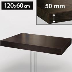 Bistro Tischplatte   120x60cm   Wenge   Holz    Gastro Restaurant Holzplatte Tisch Gastronomie Stehtisch Möbel