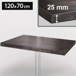 ITALIA Bistro Tischplatte | 120x70cm | Grau Wenge | Holz | Gastro Restaurant Holztischplatte Tisch Gastronomie Stehtisch Möbel