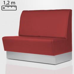 DALLAS Gastro Sitzbank B120xH120cm | Rot | Glatt  | Bistro Bank Hoch Lounge Polster Restaurant Diner Möbel Bar Sitzmöbel