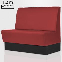 DENVER Gastro Sitzbank B120xH120cm | Rot | Glatt  | Bistro Bank Hoch Lounge Polster Restaurant Diner Möbel Bar Sitzmöbel