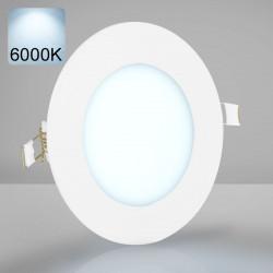 EMPIRE Einbau LED Panel Ø120mm | A++ | 6W | 6000K | Kaltweiß | Rund Spot Strahler Einbauspot Einbaustrahler Einbaupanel Spotpanel Strahlerpanel