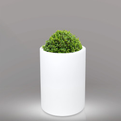 LOTUS Blumentopf Leuchte | E27 | Ø400xH800mm | Kabel | Beleuchteter Pflanzkübel Blumenkübel Pflanztopf Übertopf Kübel Lampe Gartentopf Gartenkübel
