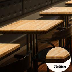 Bistro Tischplatte   70x70cm   Massiv Eiche    Voll Holz Tisch Platte Gastro Restaurant Stehtisch