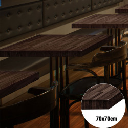 Bistro Tischplatte   70x70cm   Wenge   Massiv Eiche    Voll Holz Tisch Platte Gastro Restaurant Stehtisch
