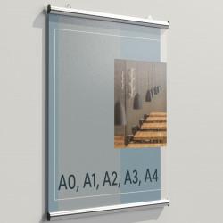 MONTANA | Poster Schiene | A4 | Alu  | Leiste Plakat Halter