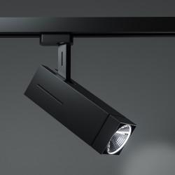 TORONTO Stromschiene Strahler LED | 12W | 4000K | Schwarz | 3 Phasen - Schienensystem | Hochvolt  | Schienen Stromschienen Spot Lampe Leuchte Lichtschiene Schaufensterbeleuchtung Laden Shop Beleuchtung