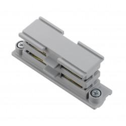 Surface-mounted & flush-mounted longitudinal connector | 110 V - 415 V | Light grey | 3 phases | High voltage | Middle connector | 3-phase connector | Protective conductor right and left | Surface-mounted track . Surface-mounted busbar . Flush-mounted tra