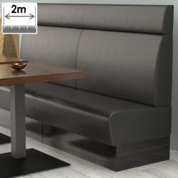 (NEW) Denver Gastro Bank | B200xH128cm | Schwarz | Glatt  | Bistro Sitzbank Lounge Polster Restaurant