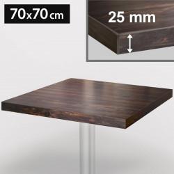 ITALIA Bistro Tischplatte | 70x70cm | Wenge | Holz | Gastro Restaurant Holztischplatte Tisch Gastronomie Stehtisch Möbel