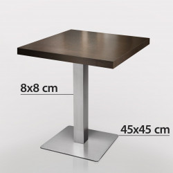 Bistrotisch   70x70cm   Wenge  Bistro.Tisch Restauranttisch Hoteltisch Kneipentisch Gastrotisch Gastronomietisch Bistromöbel Restaurantmöbel Gastromöbel