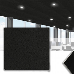 CALGARY Mineralfaserplatte 62x62cm   Schwarz   Rasterdeckenplatten   Mineral Faser Akustik Decken Raster Platten