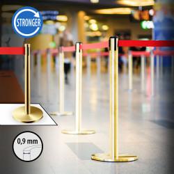 OSCAR   Personen Leitsystem 0,9mm   Gold   Band: 2m    Ständer Abgrenzungs Absperr Pfosten Gurt Airport Absperrung