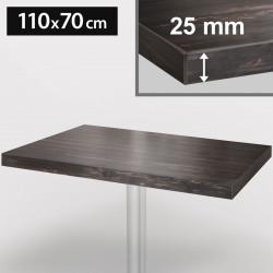 ITALIA Bistro Tischplatte | 110x70cm | Grau Wenge | Holz | Gastro Restaurant Holztischplatte Tisch Gastronomie Stehtisch Möbel