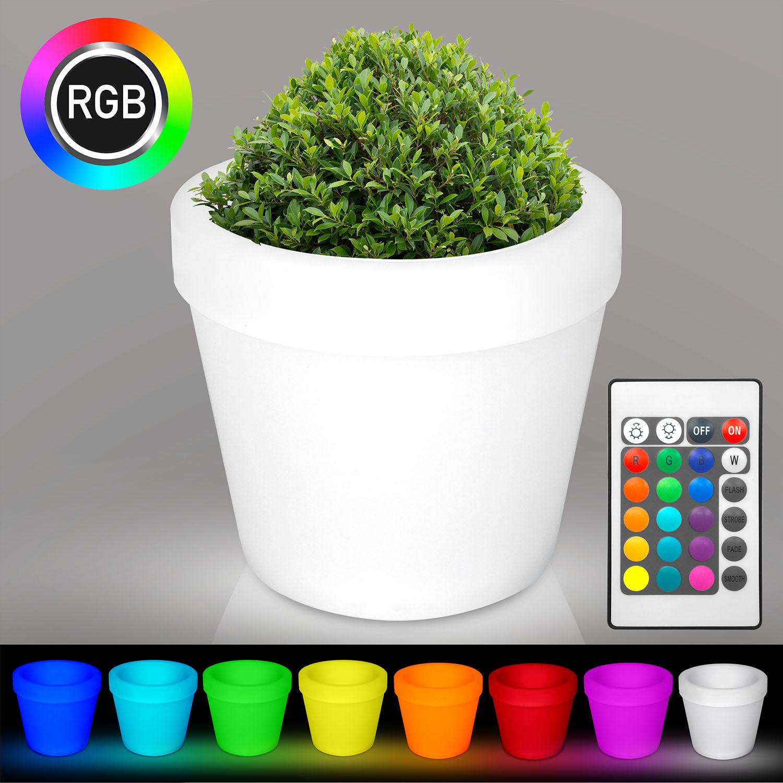 100% De Qualité [h29i] Flore Pot De Fleurs Lampe | Del Rgb | ø730xh800mm | Batterie | Lumineuse Rfr-afficher Le Titre D'origine
